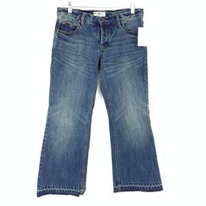 Free People Jacob Cropped Flare Jeans Medium Wash